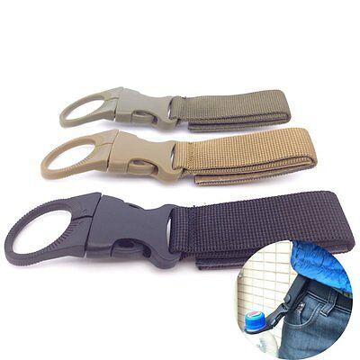 Carabiner Water Bottle Buckle Hook Holder Strap Belt Clip Camping Outdoor Travel
