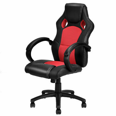 High Back Executive Office Chair Race Car Style Swivel Gaming Chair Bucket Seat ()