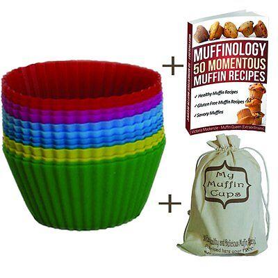 Premium Mini Quiche Tart Pan Set 12 Silicone Greaseproof Cupcake Liners  Mini-quiche Pan