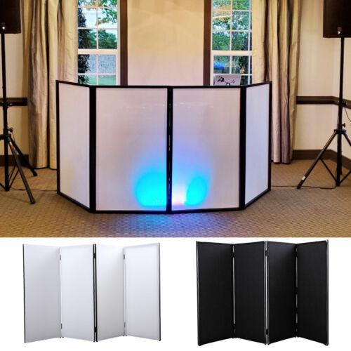 Folding DJ Event Facade White/Black Scrim Metal Frame w/4 Panel +Travel Bag Case