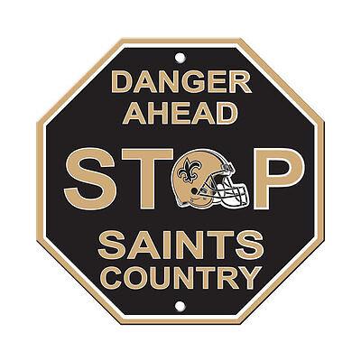 New NFL Orleans Saints Home Office Bar Decor STOP Sign 12