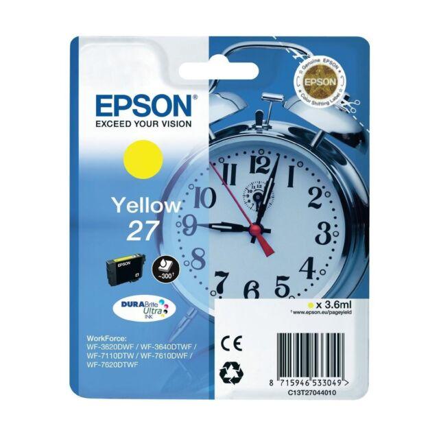 "Original Epson 27 Tinte Gelb/Yellow Tintenpatrone ""C13T27044010"" Inh. 3,60 ml"