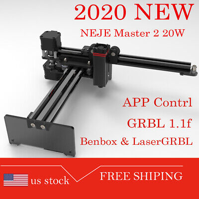 Neje Master 2 20w Cnc Laser Engraving Milling Machine Engraver Cutter Printer