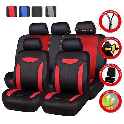 - Universal Car Seat Covers Red Black like Leather For Women Girl Car Seat Cushion