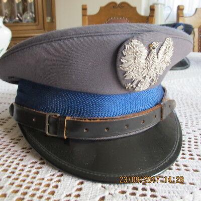 Alte Schirmmütze, Polizei, Polen, 70er Jahre,  Polska, Eblem gestickt