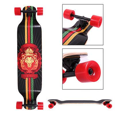 Complete Longboard 41 x 9.5 in. Cruiser Speed skateboard Downhill Canadian Maple