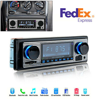 US Stock 4-Channel Car Bluetooth Stereo FM Radio MP3 Player With Remote Control