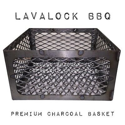 LavaLock® Old Country Pecos BBQ pit 15 15 8 Charcoal basket coal smoker (Old Country Bbq Pits Pecos Coal Smoker)