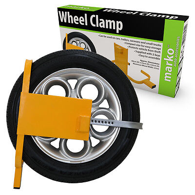 Car Van Wheel Clamp Lock Heavy Duty Adjustable Security Caravan Trailer Wheels