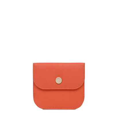 Radley London Coleman Street Small Flapover Coin Purse Orange NEW