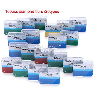 20 Kits Dental Diamond Burs For High Speed Handpiece Medium Fg 1.6mm 100pcs