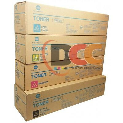 Tn210 Cymk Toner Set For Bizhub C250 C252