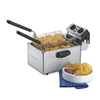 Waring WDF75B 8.5lb Countertop Electric Fryer w/ Timer 208v