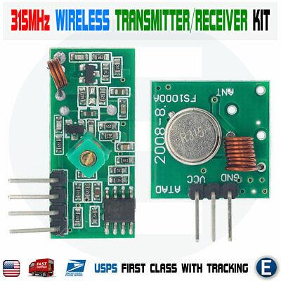 315mhz Wireless Rf Transmitter Module Receiver Alarm Arduino Diy Usa