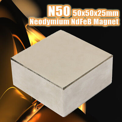 Super Big Strong Neodymium Fridge Magnet Rare Earth Block 50x50x25mm Magnets N50