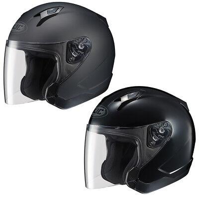 Adult HJC Motorcycle Helmet 3/4 Open Face Helmet with Shield DOT Approved CL-JET ()