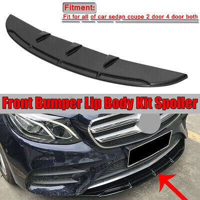 47'' Front Bumper Lip Splitter Plate Under Spoiler Diffuser For Mercedes C-Class
