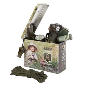 Kids Army Junior Explorer Kit Complete With Tin Storage Box