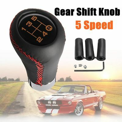 5 Speed Stitche Leather Universal Manual Car Gear Stick Shift Knob Shifter