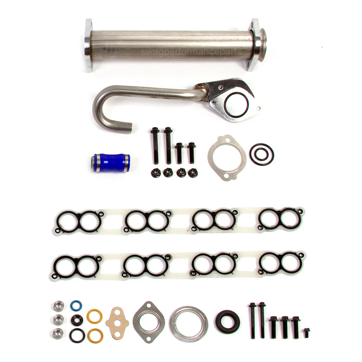 Swag Performance Parts Replacement EGR Oil Cooler To Intake Replacement Hose