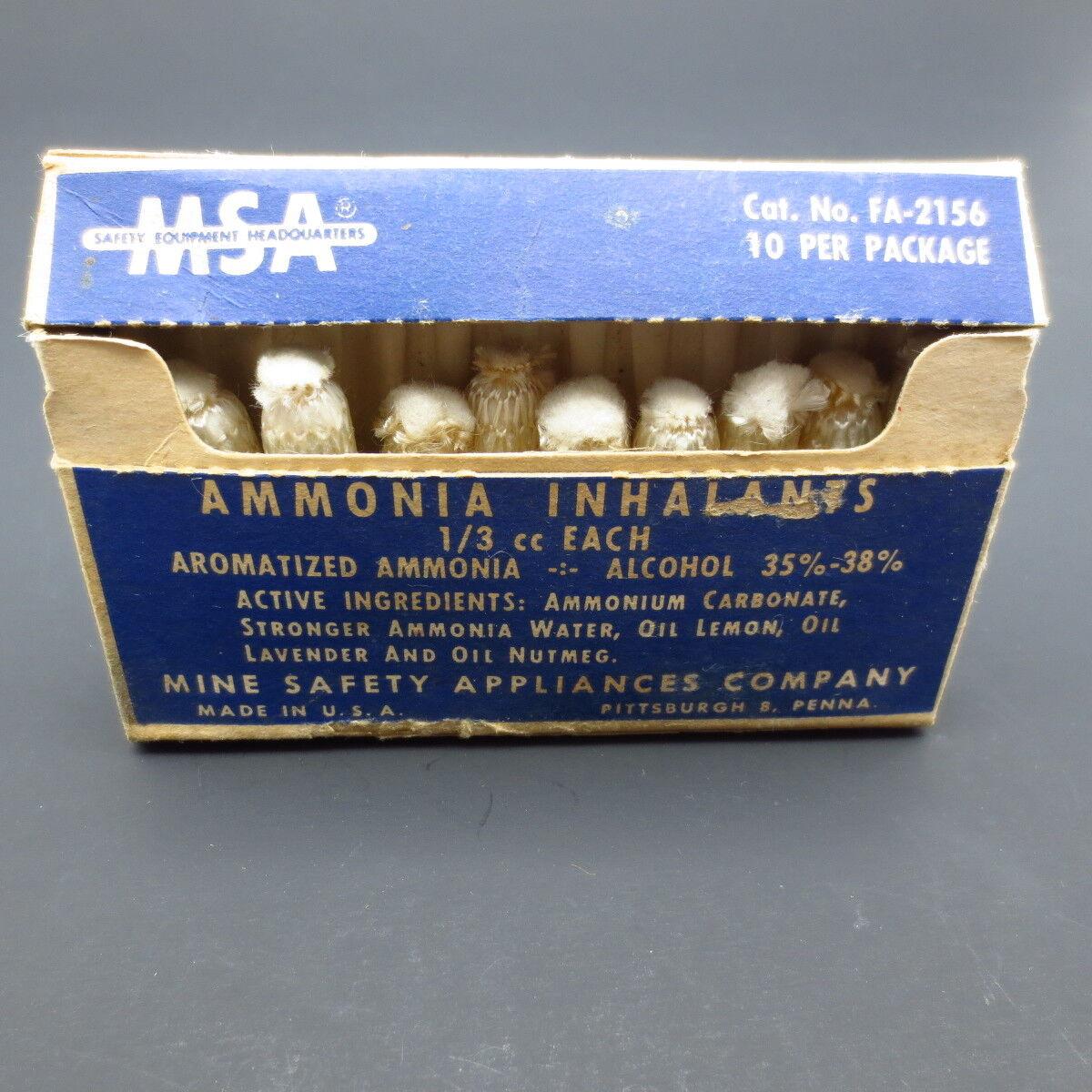 Vtg 'NOS' Package  Mine Safety Appliances  Ammonia Inhalents