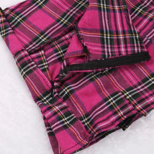 Sexy Women Lingerie Kilt Plaid Skirt School Girl Uniform Pleated Mini Dress Chic  Ebay-4331