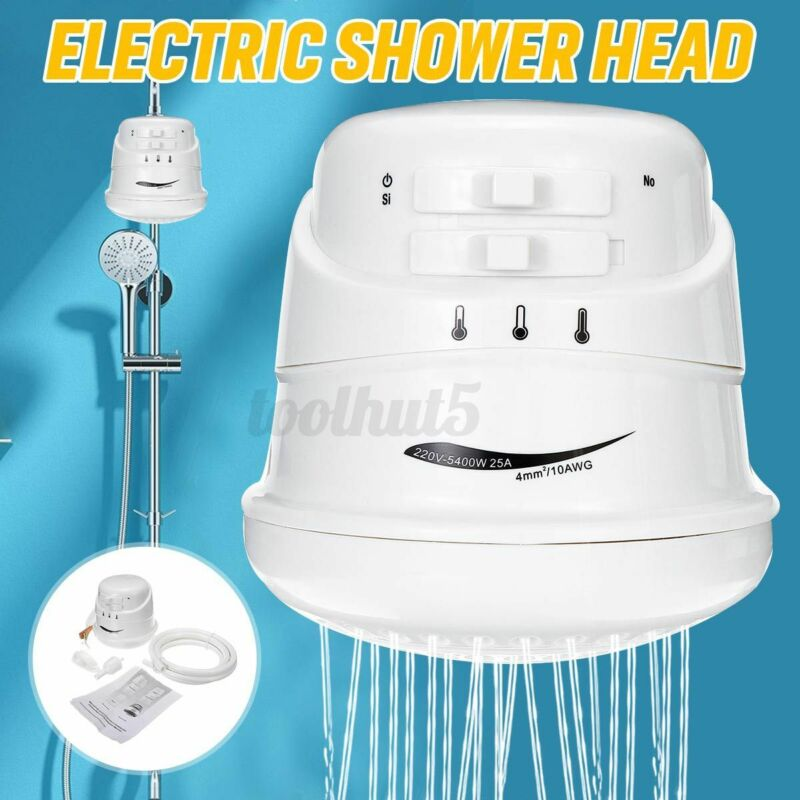 US 110V 5400W 30A Electric Shower Head Instant Hot Water Boiler Heater