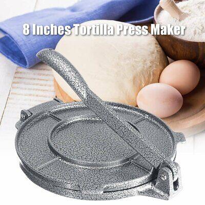 8 Inch Tortilla Press Maker Aluminum Foldable Kitchen Flour Corn Baking Tool Aluminum Tortilla Press