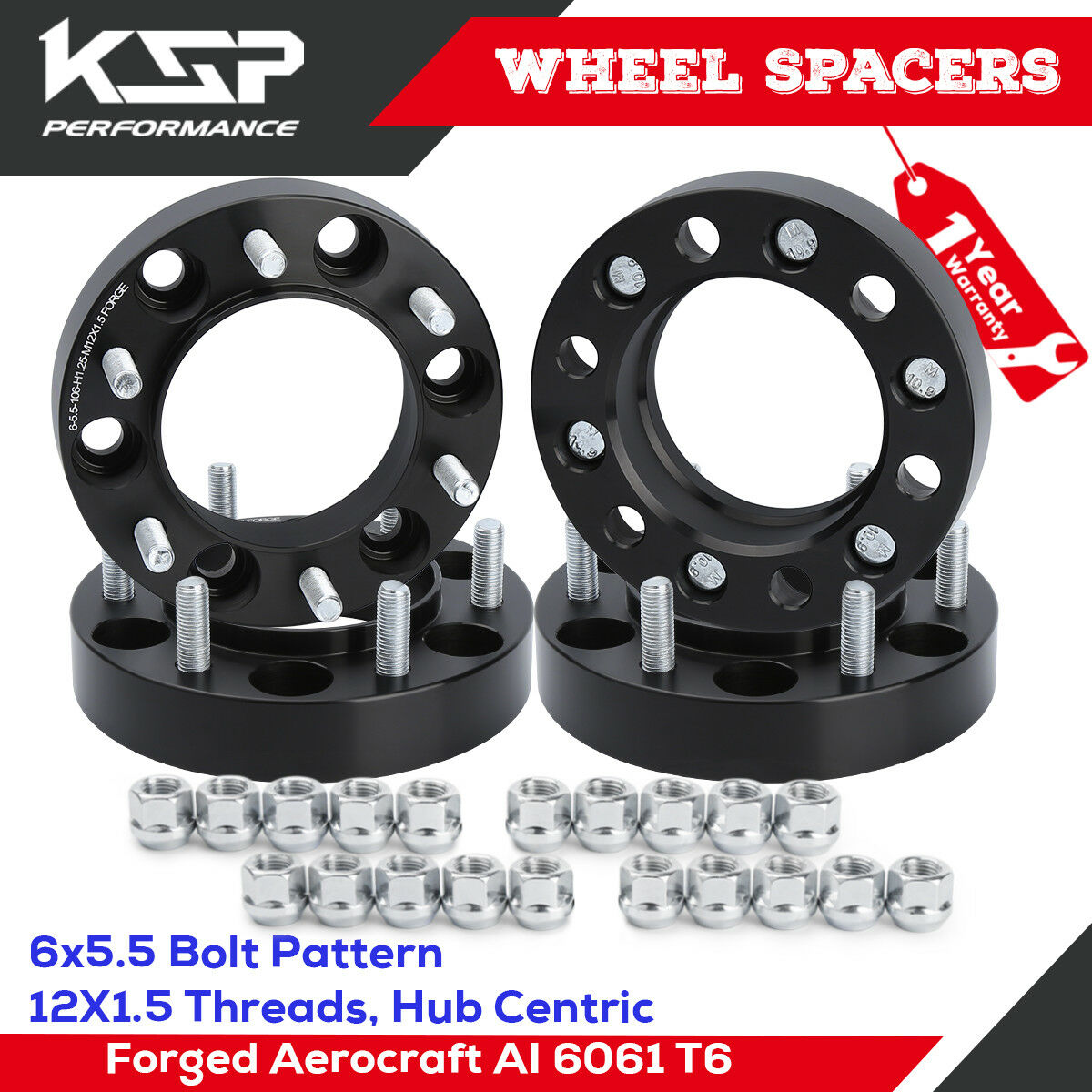 2 Hub Centric Wheel Adapters 6x5.5 ¦ Tundra Tacoma Pickup 4WD Spacers 1.25/""