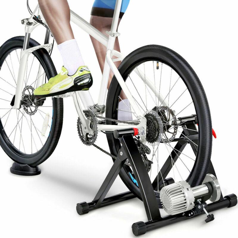 Sale! Indoor Bike Trainer Stand Fluid Resistance Exercise Bi