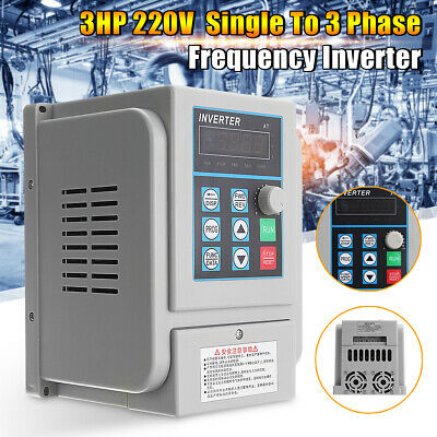 Us Upgrate 2.2kw 3hp Single To 3 Phase Variable Frequency Drive Inverter Cnc