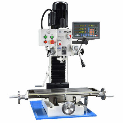 Pm-727-v Vertical Bench Top Milling Machine 3-axis Dro Var Speed Free Shipping