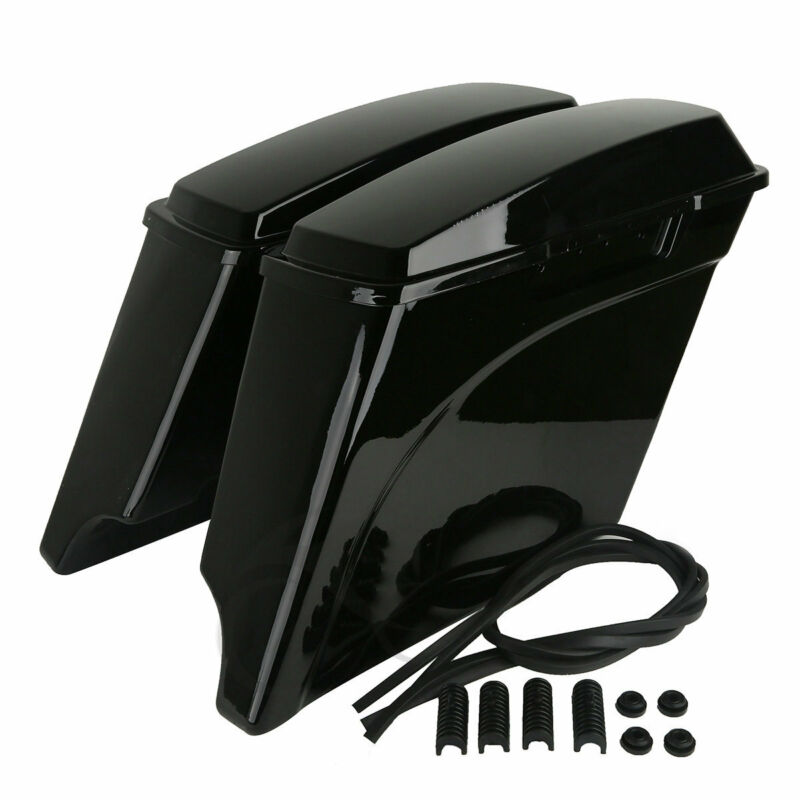 5 Quot Stretched Extended Hard Saddle Bags For Harley Electra