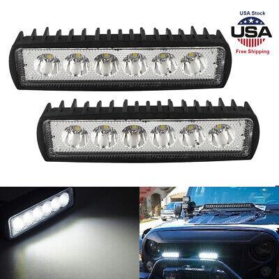2PCS Car LED Work Lights Bar Spot Light Offroad ATV UTV Fog Driving Lamp Bright