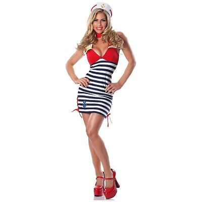 Sailor Costume Adult Pin Up Girl Halloween Fancy Dress