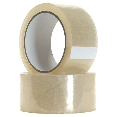 12 BIG Rolls Of CLEAR STRONG Parcel Tape Packing cellotape Packaging 48mm x 66m