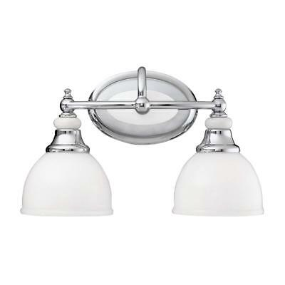 NIB Nice Kichler 5368CH Chrome-Finish 2-Lite Bathroom VANITY LIGHT