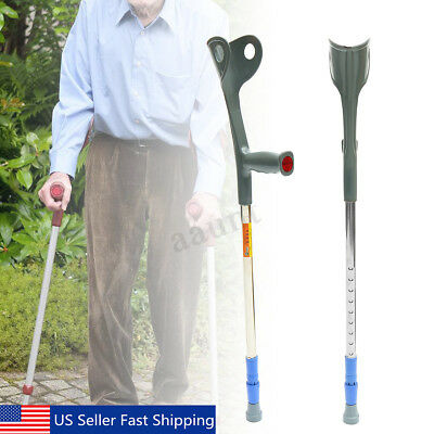 Walking Aid Forearm Crutch Adjustable Height Disability Arm Cuff Crutches Crutches