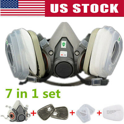 Half Face Mask Facepiece For 3m- 6200 Gas Painting Spray Protection Respirator