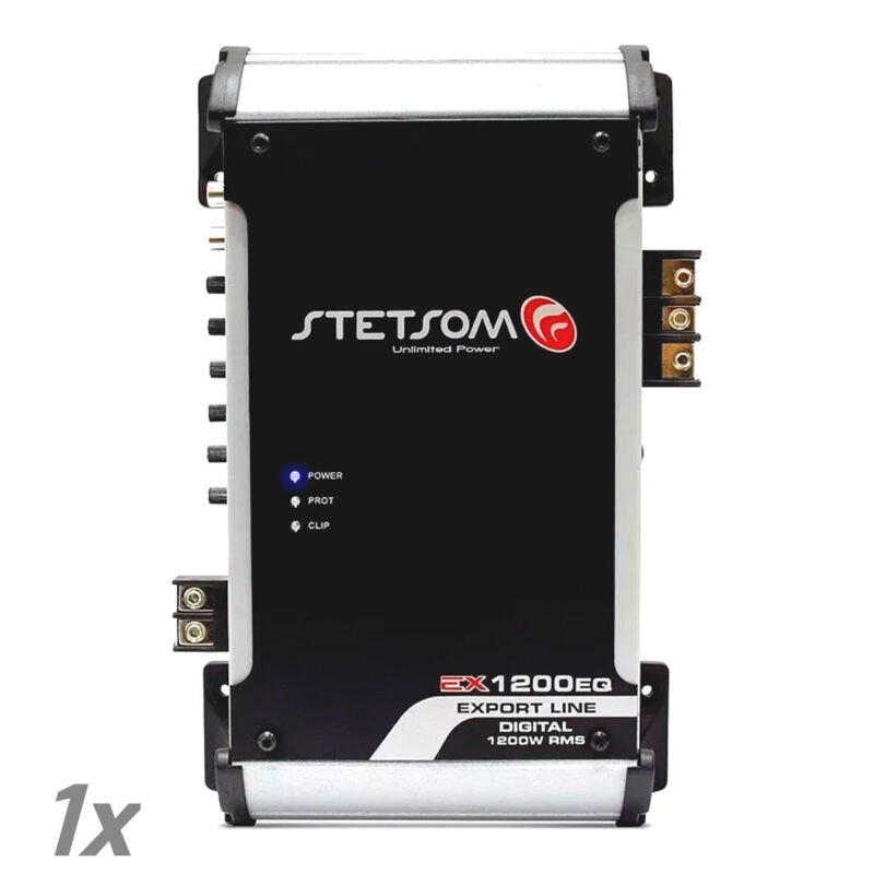 Stetsom EX1200 EQ 1 Ohm - Car Audio Digital Amp Built-In EQ 1K HD USA Warranty