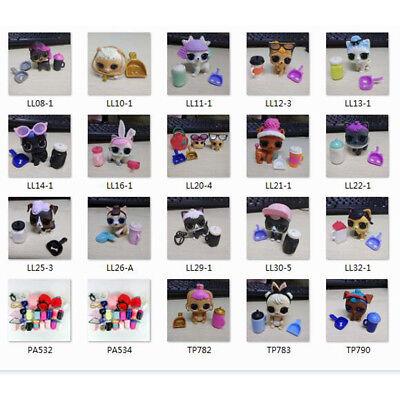 5pcs LOL Surprise Doll Pets PUPSTA PRANKSTA Touchdown Rufferee Dog Bunny Skunk
