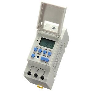 Digital LCD Zeitschaltuhr programmierbar Timer Zeitschalter Zeitrelais 16A DC12V