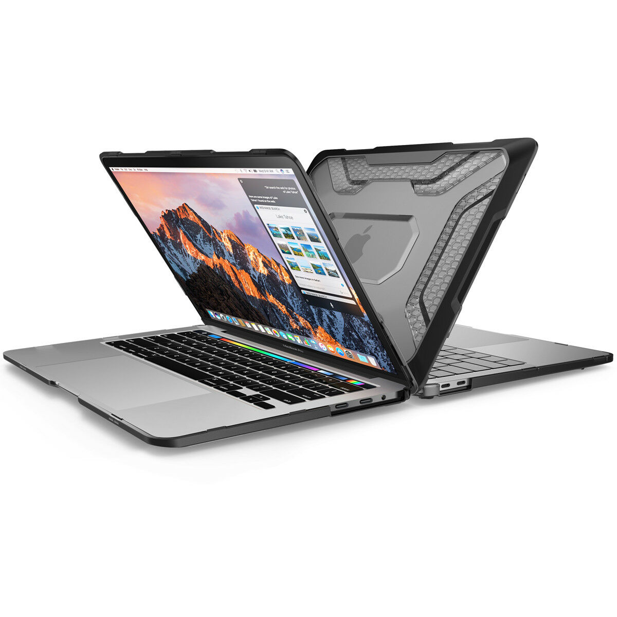 """как выглядит MacBook Pro 13"""" Case 2018 A1989, SUPCASE Slim Rubberized Bumper Protective Cover фото"""