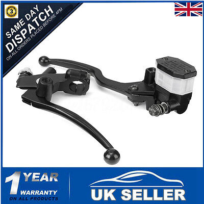 Pair 7/8'' Motorcycle Hydraulic Brake Clutch Lever Master Cylinder Reservoir ATV