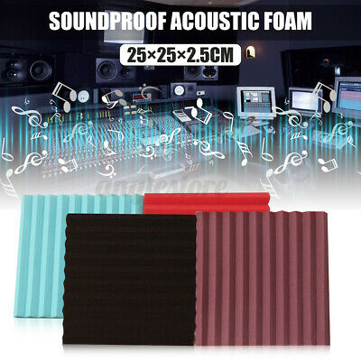 12Pack Acoustic Wall Panels Sound Proofing Foam Pads Sound Studio Treatments