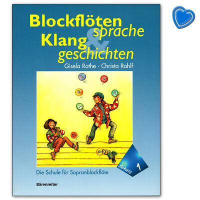 Blockflötensprache und Klanggeschichten 1 - Bärenreiter BA8131 9790006500611
