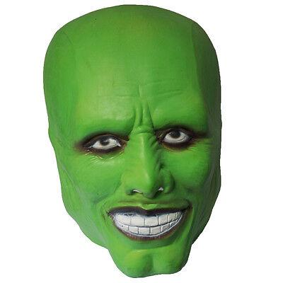 The Mask Jim Carrey Cosplay Dark Green Mask Costume Movie Fancy Dress Halloween