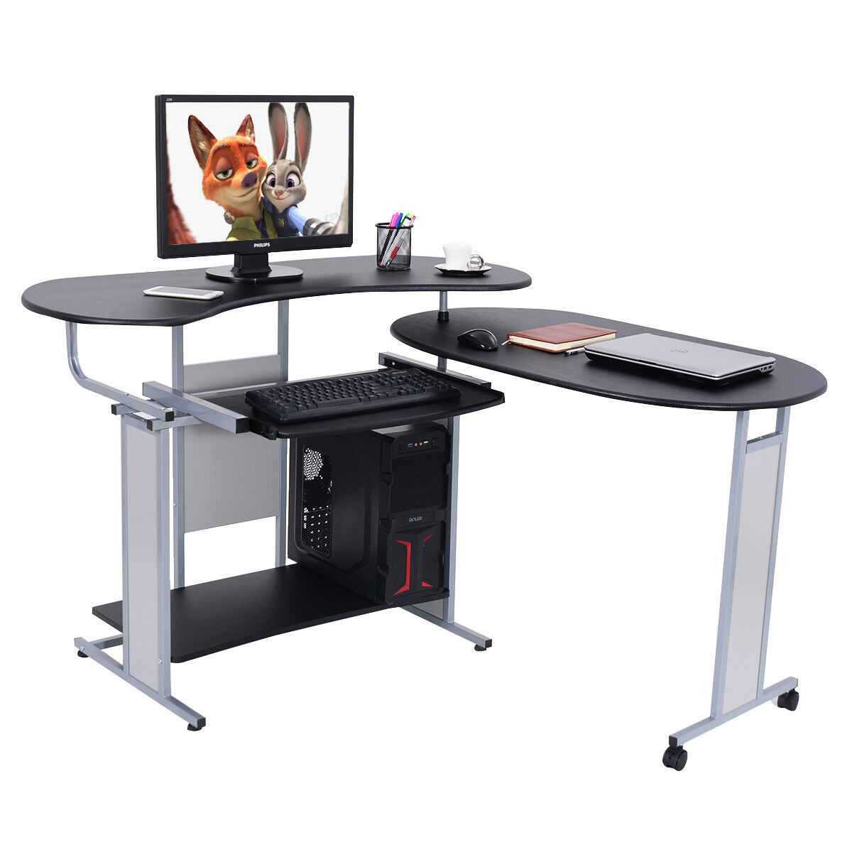 computer spaces foldable compuer pc small for advisor build l expandable desk desks