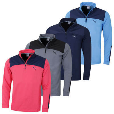 Puma Golf Mens PwrWarm 1/4 Zip Popover Pullover Jumper Fleece Top 48% OFF RRP