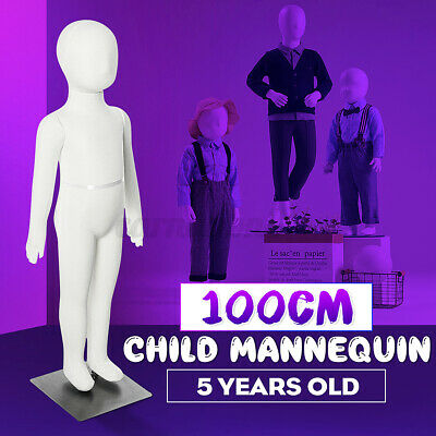 100cm Unisex Child Full Model Body Mannequin Dress Form Clothes Display W Base